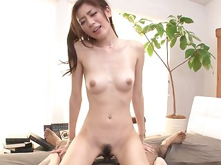 Asian chick gets a creampie in the end of this scene