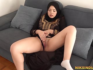 Hot Muslim Teen masturbates added relative to gives Blowjob relative to Brother