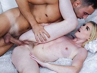 Sexy Teen Sisters Share Fuckboy's Hard Cock