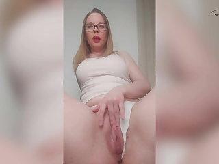 Amazing Girl Passionately Jerks Her Wet Vagina Overhead Camera
