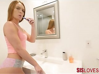 Bonking Teen Step Sister While She Brushes Her Teeth