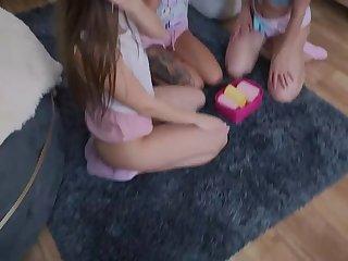 itsPOV: Injurious Step sisters champion MFFF foursome fuck fest aloft PornHD