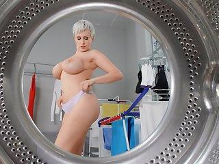 Munificence MILF poses nude before fucking like a slut