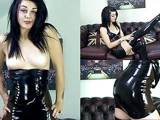 Zoe Moore in Black Dress and Stockings - LatexHeavenVideo
