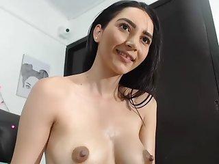 Amateur Brunette Striptease And Fingering Masturbation